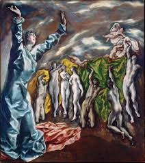 painted in the last years of el greco s life to decorate a side altar of the church of saint john the baptist in toledo this mannerism oil on canvas