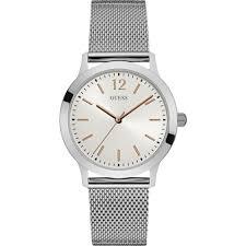 guess men s exchange silver mesh bracelet watch w0921g1 watches guess men 039 s exchange silver mesh bracelet watch