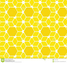 The Hive Design Seamless Surface Pattern Vector Illustration Geometric