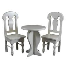 Amazoncom 18 Inch Doll Café Doll Table And Two Chair Set Fits 18