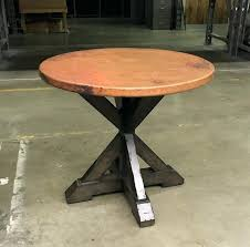designs montage end table antique java base and copper top tables square coffee