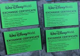 details about 4 disney world exhange certificate s fl resident annual p platinum
