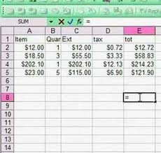 Excel Spread Sheet Basics Using A Formula Youtube