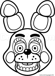 Print Mangle Golden Freddy Face Fnaf Coloring Pages Bobbin Hood