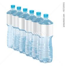 Blank Water Bottle Labels Six Water Bottles With Blank Labels Stock Illustration