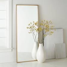 floor mirror. Metal Framed Floor Mirror O