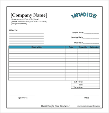 Catering Invoice Example Doc Blank Receipt Template Free Forms More Generic Word