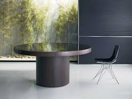 Contemporary Round Dining Table For 6 Round Table Contemporary Wood Berkeley