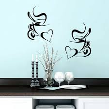 kitchen wall stickers kitchen wall sticker coffee cup with heart kitchen vinyl wall art decor decal