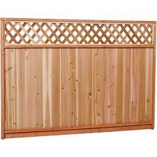 premium cedar lattice top fence panel