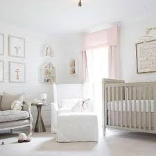gray and pink nursery color scheme
