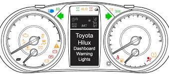 toyota hilux dashboard warning lights