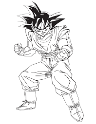 Small Picture Ball Z Goku Vs Broly Coloring Pages Dragon Ball Goku Coloring Page