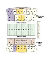 Wyoming Cowboys Stadium Seating Chart Wyoming Cowboys 2018 Football Schedule