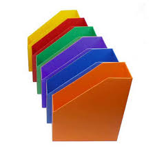 Classroom Magazine Holders Custom Plastic Magazine Holders MultiColor Set Of 32 Magazine Files