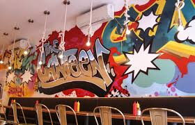 brooklyn wall art graffiti design for canteen