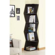 corner furniture. furniture of america waverly modern walnut 6tier corner bookcase display cabinet overstock