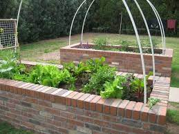 to build a raised brick vegetable bed