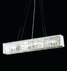 rectangular crystal chandelier modern lighting linear with shade uk rec
