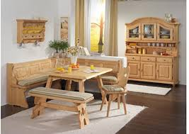 corner dining furniture. this is a solid filled spruce wood corner dining furniture set with large l o