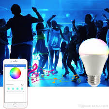 smartphone controlled lighting. Bluetooth Smart Light Bulb Dimmable 9 Watt Equivalent 60W Wake Up LED Lights \u0026 Sleeping Smartphone Controlled Lighting L