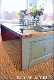 diy coffee table out of old door find us on facebook reclaim ologists and