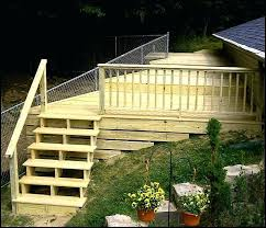 build a deck on a slope building deck stairs on a slope how to build a