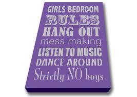 bedroom rules. bedroom rules