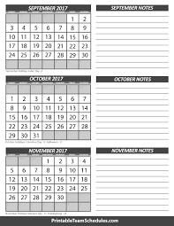 calendar october 2017