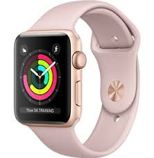 apple 3 watch. gold aluminum case with pink sand sport band apple 3 watch n
