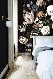 Zelfklevend Behang Donkere Bloemen 250x250cm In 2019 Bedroom