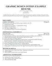 Resume Internship Sample Example Of Resume For Internship Sample