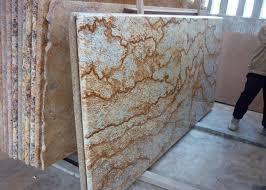 tropic gold brazilian granite island top granite kitchen worktops 37 eased edges