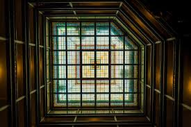 the brown palace hotel and spa autograph collection stained glass roof of the lobby