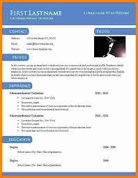 8 Cv Format Word Doc Theorynpractice