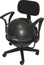 com sivan health and fitness arm rest balance ball low fit chair with ball and pump health personal care