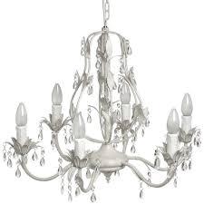six light crystal effect drop chandelier
