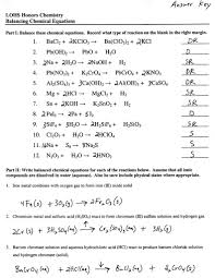 balancing chemical equations worksheet with answers grade 10 luxury