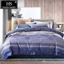baby blue digital print comforters bedding sets retro design 500 thread count bed linen set queen king size cotton bed set comforter sets queen teen