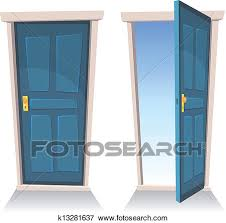 open and closed door clipart. Clip Art - Doors, Closed And Open. Fotosearch Search Clipart, Illustration Posters Open Door Clipart O