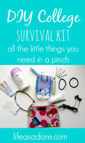 diy college survival kit life as a dare