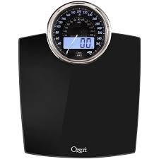 Black Bathroom Scales Ozeri Rev Digital Bathroom Scale With Electro Mechanical Weight