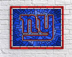 new york giants new york giants football wall decor art stained glass art canvas print for kids room mancave football art gift on ny giants canvas wall art with new york giants art etsy