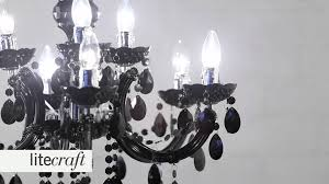 marie therese 9 light chandelier black litecraft lighting your home
