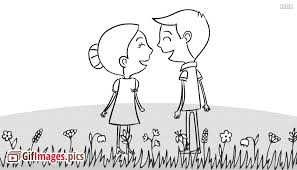 animated couple love gif images pics