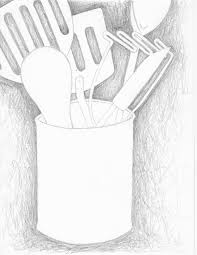 kitchen utensils drawing. Kitchen Tools Drawings Utensils Drawing Easy