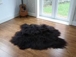 nobby design black sheepskin rug rugs 2018 regarding fur 16
