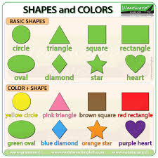 Basic English Chart Shapes And Colors In English Woodward English