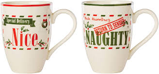 Try target drive up, pick up, or same day delivery. Amazon Com Lenox Post Office Naughty Nice 2 Piece Mug Set 1 75 Lb Red Green Kitchen Dining