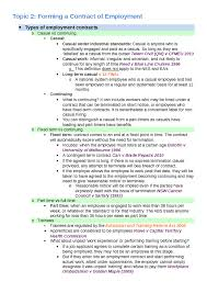 Forming A Contract Of Employment Oxbridge Notes Australia